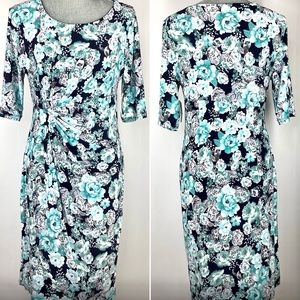 NWT ROZ & ALI FAUX WRAP DRESS